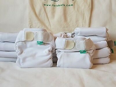 Washable/ cloth nappy Totsbots Flexitot Size 1 X5 USED