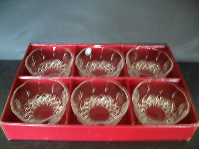 Royal Crystal Rock Opera Crystal Lead Glass Desert Bowls Boxed