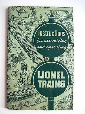 "1951 ""Instructions for Assembling & Operating ""Lionel Train"""