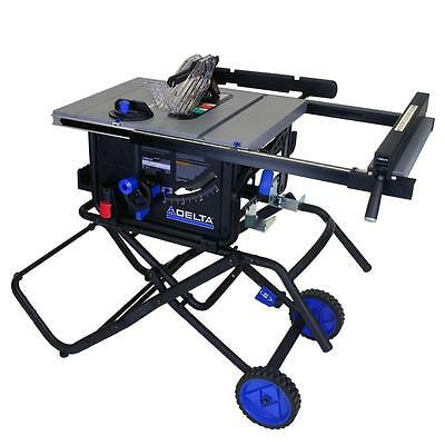 10 inch Portable Table Saw w/ Folding Stand Jobsite Compact Electric