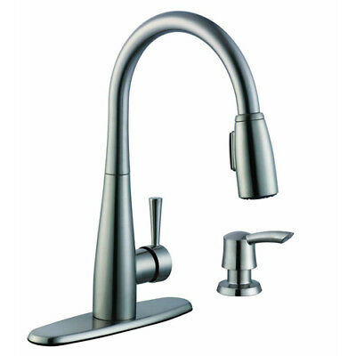 Glacier Bay Single Handle Pull Out Sprayer Kitchen F Stainless Steel