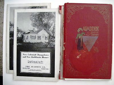 """1921 """"The Aladdin Co."""" Home Construction Books w/ Floor Plans & Prices"""