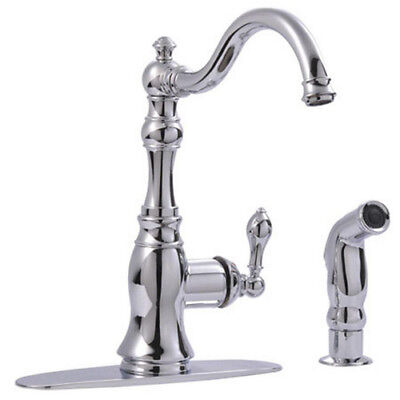 Kingston Brass Victorian 1-Handle Standard Kitchen Faucet Pull Out Spray Wand