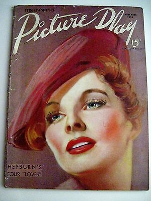 """Nov.1936 Issue of """"Picture Play"""" Magazine - Katharine Hepburn on Cover"""