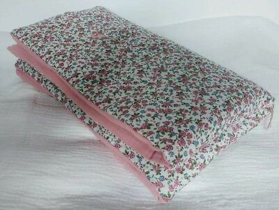 Handmade, brand new baby playmat/quilt floral and muslin cotton - Liberty style