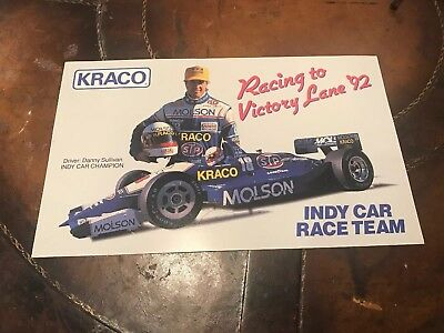 Kraco MoIson Indy Race Car Team #18 Danny Sullivan Poster 1992 11.5 by 7 Inches