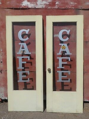 Vintage Cafe ( Painted ) French Doors Glass Susanville Reno Redding Chico CA