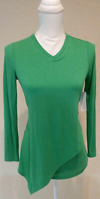 Logo by lori goldstein Youth Littles Long Sleeve Green Asymetrical top