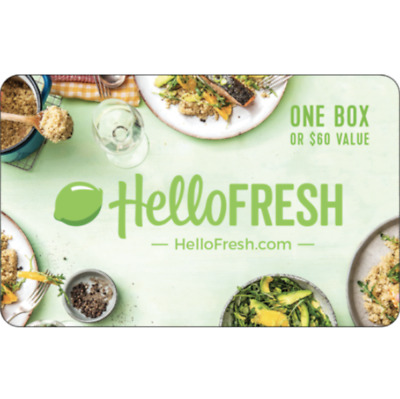 $60 Hello Fresh Gift Card - Email delivery