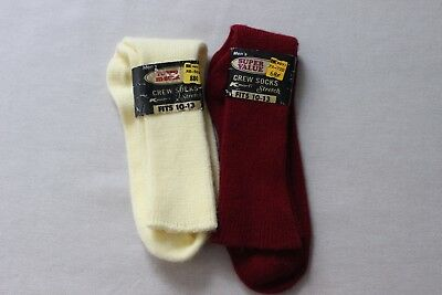Vintage New Old Stock Hi Bulk Orlon Super Soft Men's Crew Socks - 2 pr