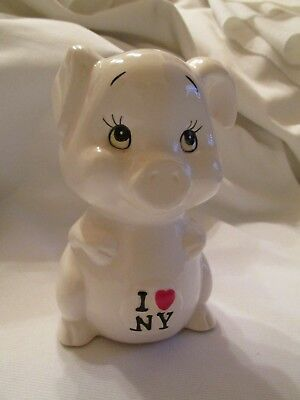 Vintage Ceramic I Love NY Piggy Bank