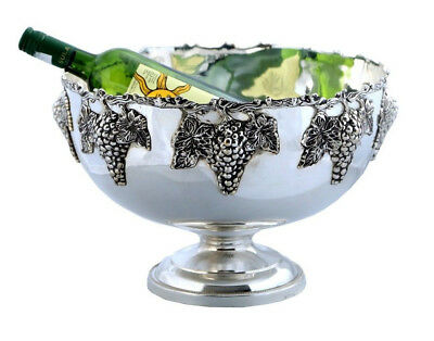 Gorgeous Nickel Plated Monteith Punch Bowl ~ Champagne Cooler ~ Wine Cooler