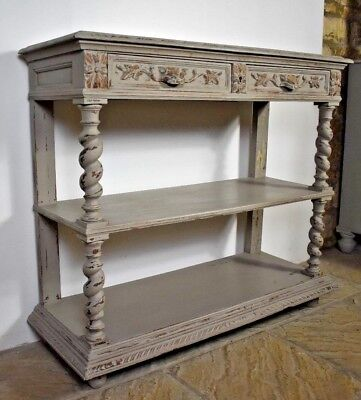 Oak~Antique Gothic Revival Carved ~ Green Man ~ Gargoyle Imp ~ Drawers Bookcase