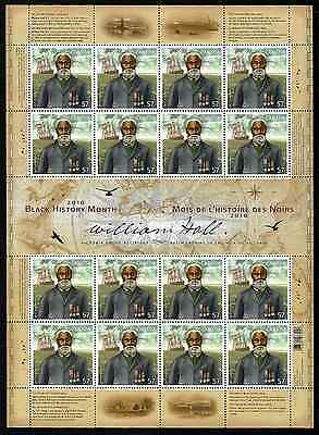 Canada Stamps - Full Pane of 16 - Black History Month, William Hall #2369 - MNH