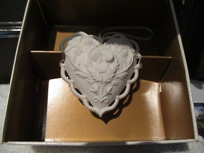 "Margaret Furlong Porcelain ""From the Heart"" Heart Ornament MIB - 1997"