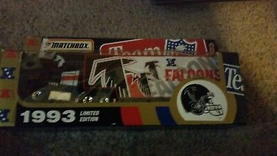 Die cast Large 1994 unopened matchbox atlanta falcons tractor trailer