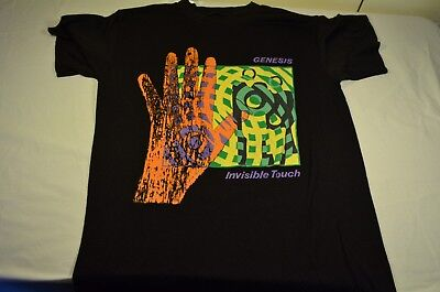Vintage Genesis Invisible Touch 1986 Tour T-Shirt ORIGINAL Size Small
