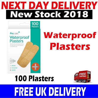 100 x Natural Breathable Waterproof Plasters Cuts Bandage Durable & Flexible