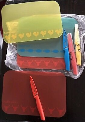 Tupperware Flexi Mat And Paring Knife Set