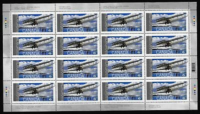 Canada Stamps - Full Pane - First Flight: Silver Drat's Maiden Flight #2317 -MNH