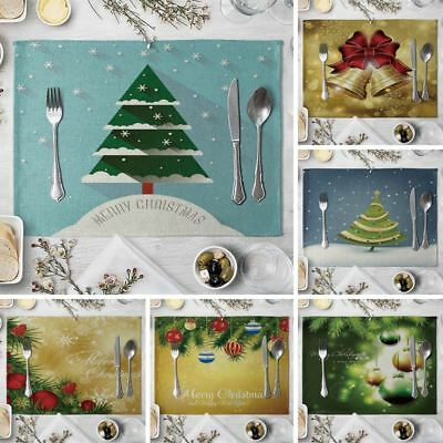 Christmas Placemats Dining Table Mat Xmas Place Mats Insulation Pad Rectangular