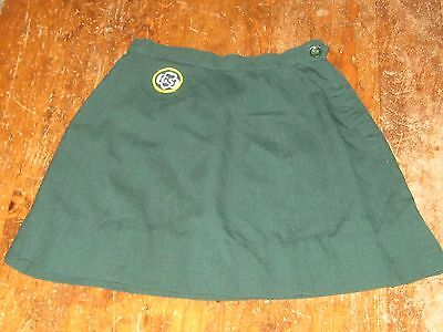Vintage 1960s Girl Scout Dress skirt Cadette Uniform 22 W