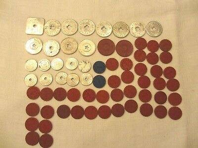 Vintage Sales Tax Tokens, OPA Red & Blue Point Tokens CO, UT, NM, AZ