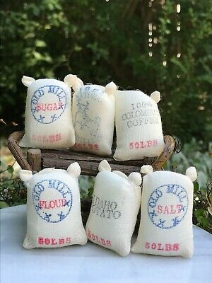 Miniature Dollhouse FAIRY GARDEN Accessories ~ Set of 6 Food Sacks ~ NEW