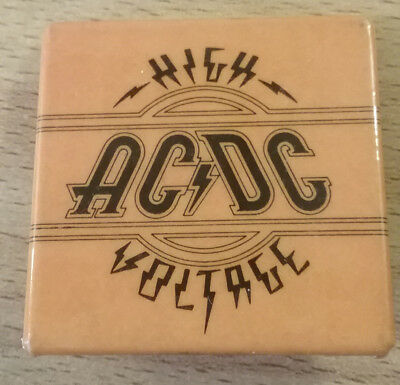 Vintage AC/DC Band High Voltage Orange Pin