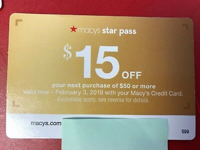 Macy's $15 Off of $40 & 25% Off Online & In-Store Coupon Exp. 11/20/18