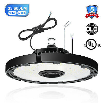 UL 240W LED UFO High Bay Light 120° replace 1000W warehouse metal halide 5000K