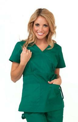 KOI Katelyn Mock-Wrap Scrub Top With Adjustable Side Tie Women's  Size XL