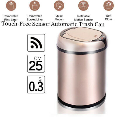 Inductive Type Trash Can Smart Sensor Automatic Kitchen And Toilet Rubbish Bin
