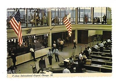Vintage Postcard O'Hare International Airport Chicago IL Curteichcolor Unposted