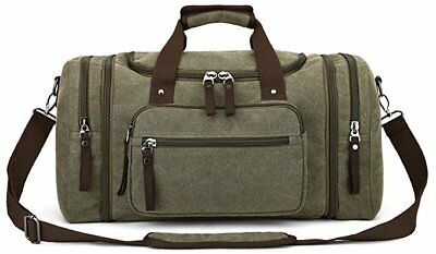 Canvas Travel Tote Luggage Large Men's Weekend Gym Shoulder Duffle Bag Strap
