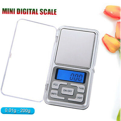 Mini Digital Scale Jewelry Portable 200g x 0.01g Pocket Balance Weight Gram LCD