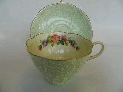 tea cup and saucer set  1935 paragon fine bone china