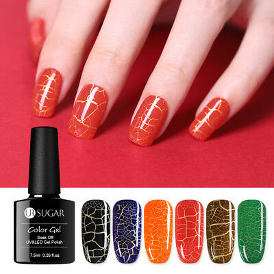 UR SUGAR Soak Off UV Luminous Crackle Gel Polish Nail Art Manicure Gel Varnish