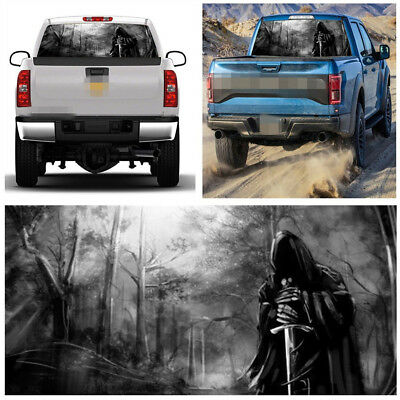 New 3D Real Effect Perforated Rear Window Graphic Decal Grim Reaper Tint Sticker
