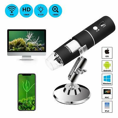 1000X WIFI USB Digital Microscope Magnifier Endoscope Camera for iPhone Android