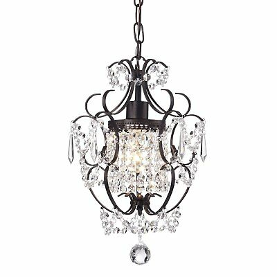 EDVIVI Amorette 1-Light Antique Bronze Finish Mini Chandelier Wrought Iron