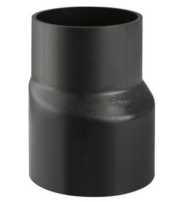 Geberit LONG ECCENTRIC REDUCER Black HDPE- 200x110mm, 200x125mm Or 200x160mm