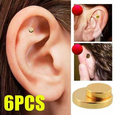 6X Quit Smoking Auricular Ear Magnet Therapy Smoke Weight Loss Acupressure OK