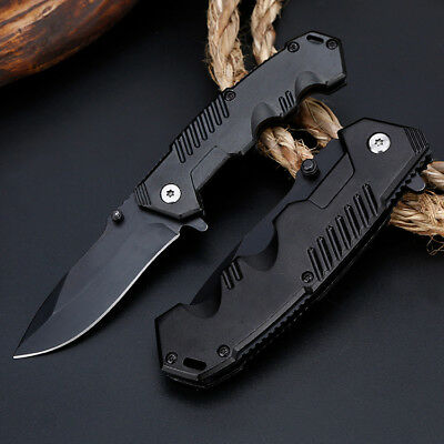 "6"" 8"" Tactical Spring Assisted Folding Knife Blade Pocket Assist Open EDC skki70"