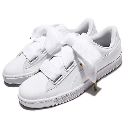 PUMA BASKET HEART Patent Wns Leather White Women Shoes