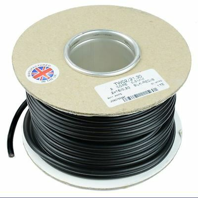 0.5mm² 2-Core Round Twin Thin Wall Cable Wire 16/0.2mm 30M