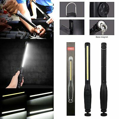 Rechargeable COB LED Inspection Work Light USB Hand Torch Lamp Magnetic Flexible