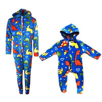 Dinosaurs OnesiePajamas Fleece One Piece Outfit All In One Baby Boys Girls 0-10