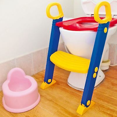 Baby Toddler Training Toilet Seat Safety Potty Step Ladder Loo Trainer System
