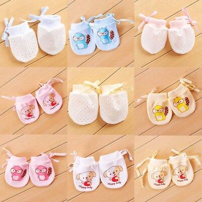 1 pair Baby Anti Scratch Gloves Newborn Protect Face Adjustable Scratch Mittens